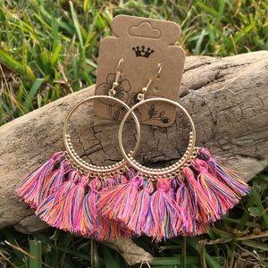New multicolor tassel earrings
